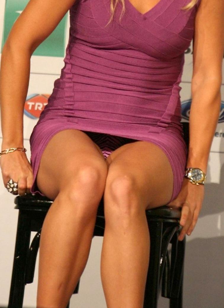 Caroline Wozniacki Upskirt Cameltoe See Through Nip