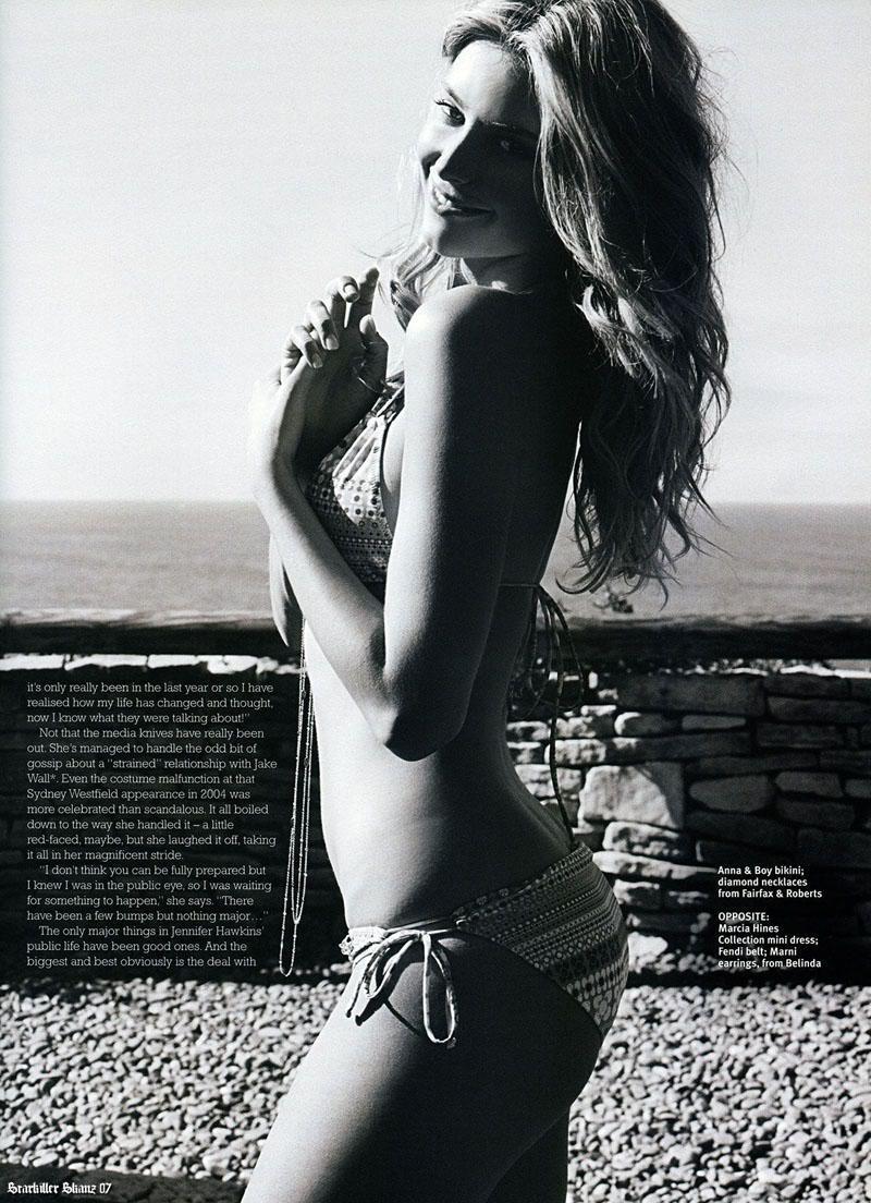 Jennifer Hawkins falsifica fotos desnudas